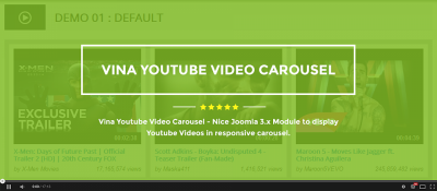 Vina Youtube Video Carousel