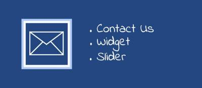 Contact Us Widget Slider