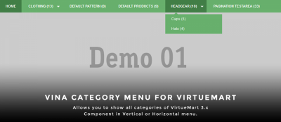 Vina Category Menu for VirtueMart