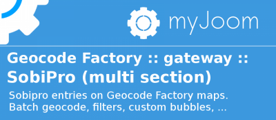Geocode Factory 5 gateway for Sobipro