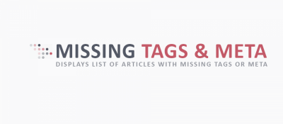 Missing Tags & Meta