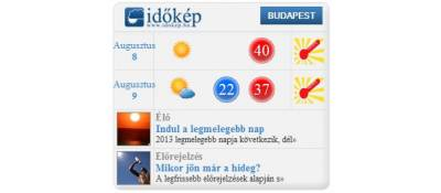 idokep.hu weather