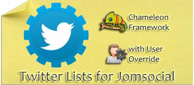 Twitter List for Jomsocial