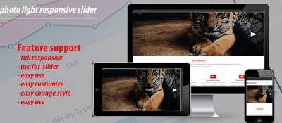 photo light responsive slider