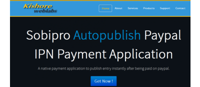 Autopublish Paypal IPN Payment Application For Sobipro