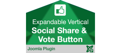 Expandable Social Share and Vote Button