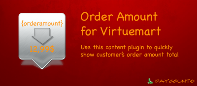 Order Amount Content Plugin for Virtuemart