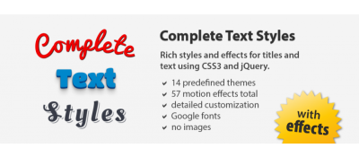 Complete Text Styles