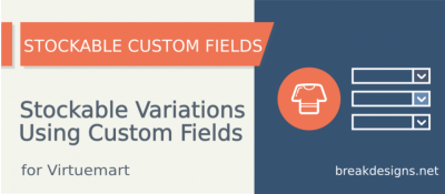 Stockable Custom Fields for Virtuemart