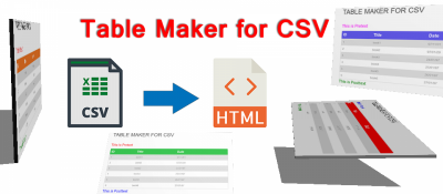 Table Maker for CSV
