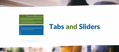 Tabs and Sliders
