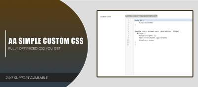 AA Simple Custom CSS