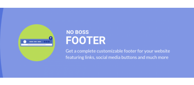 No Boss Footer