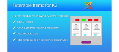 Filterable Items for K2