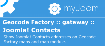 Geocode Factory 5 gateway for Joomla Contacts