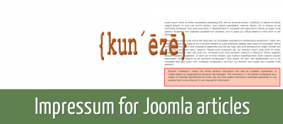 Impressum for Joomla articles