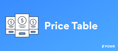 POWR Price Table
