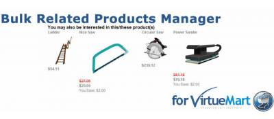 Bulk Related Product Manager for VirtueMart